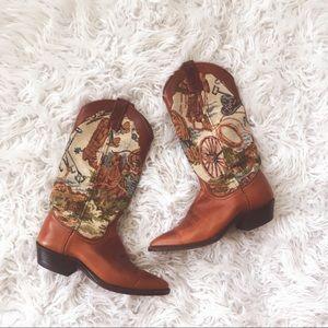 • Dan Post • Western Cowboy Horse Boots 6